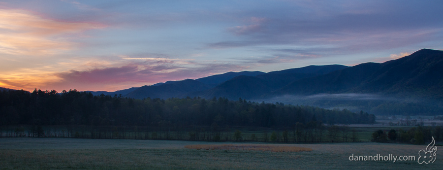 Sunrise in Cades Cove